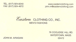 Eastern Clothing Company