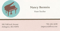Nancy Burstein, piano