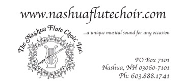 Nashua Flute Choir business card